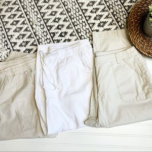 KIM ROGERS Bundle of 3 Capri Khaki Pants-size 16